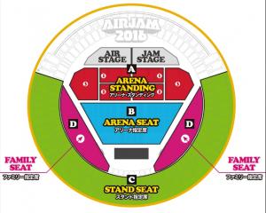 AIRJAM2016のチケットの種類