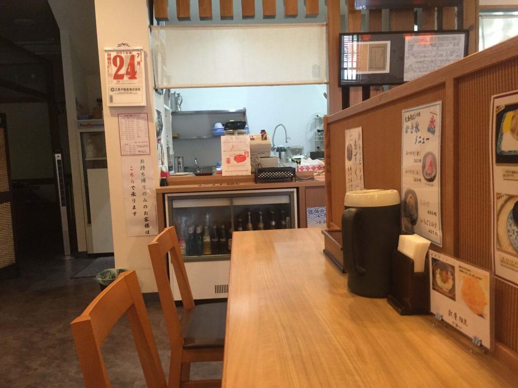 宮崎の大盛りうどんの店内1