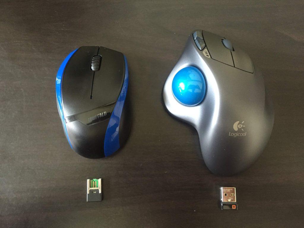 ロジクールとバッファローのbluetoothマウスを比較1