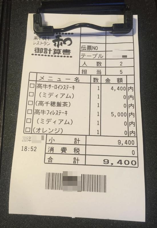 レストラン和の高千穂牛サーロインステーキコース8