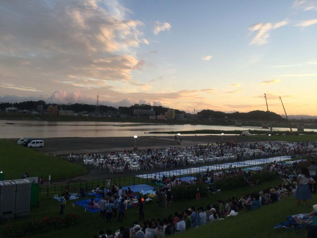 宮崎納涼花火大会2016の有料観覧席の入場口1