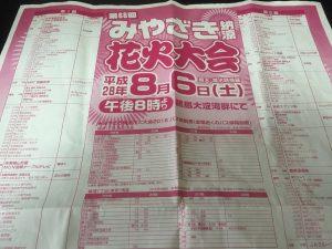 宮崎納涼花火大会2016の有料観覧席の入場口5