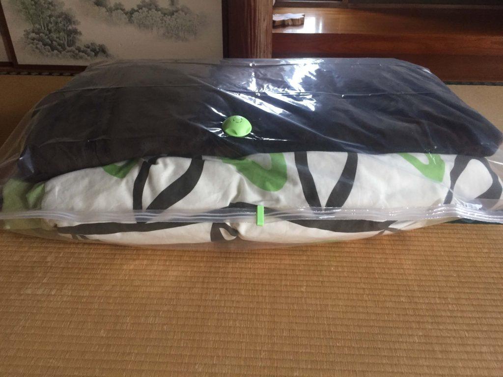 ダイソーの布団圧縮袋で圧縮するもの2