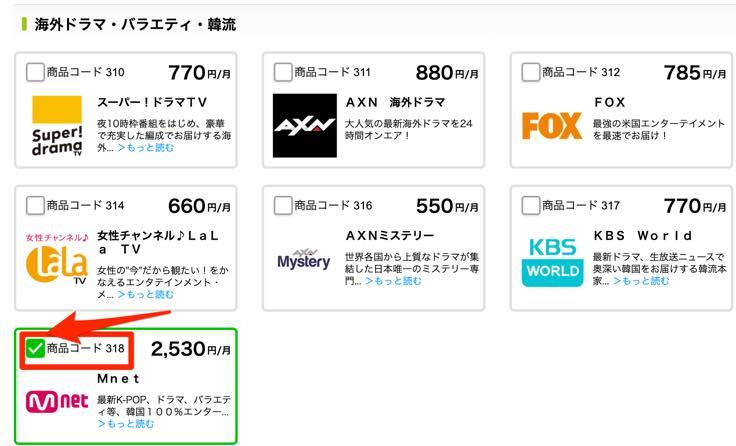 Mnet(韓国)で最安値の視聴方法と契約方法4